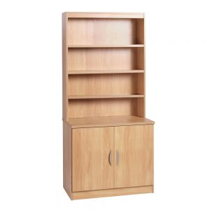 Home Office Desk Height Cupboard 85cm Wide With Hutch