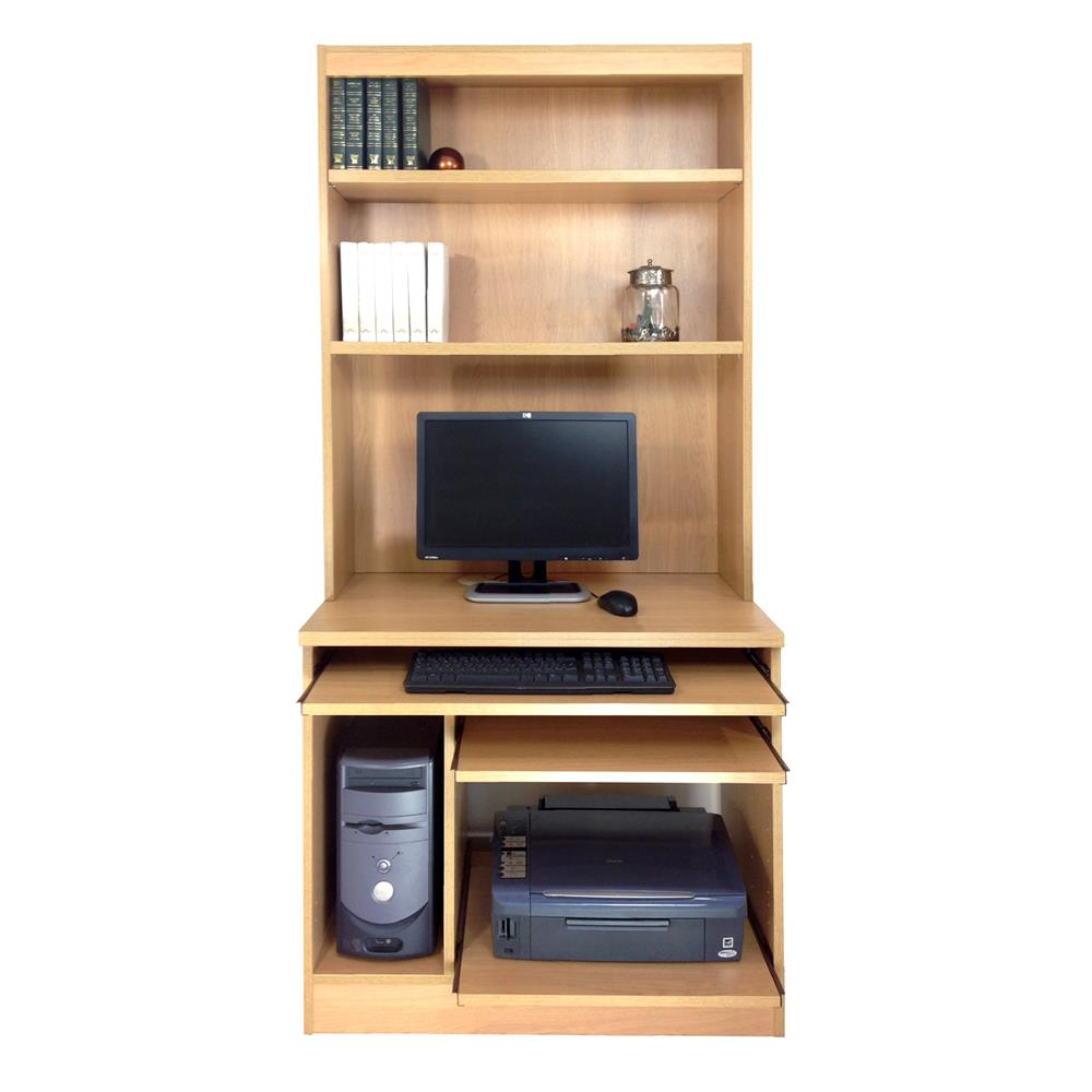 Home Office Computer Work Station With Hutch