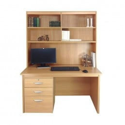 Home Office Desk With Drawers & Filing Cabinet & Hutch