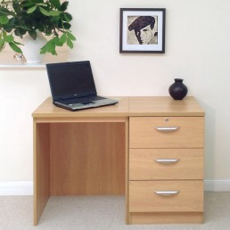 Home Office Set 3: Small Desk & Three Drawer CD/DVD Storage Unit