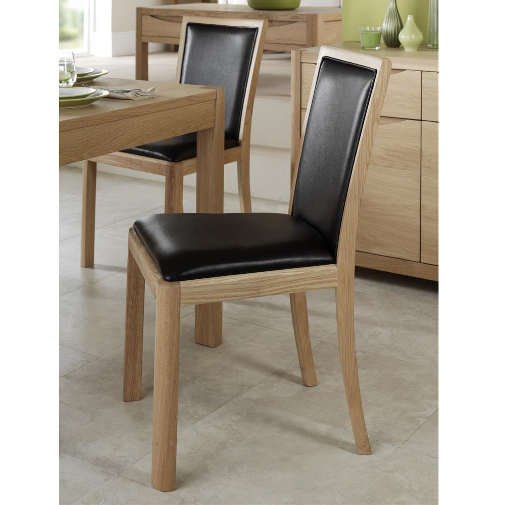 Dovedale Upholstered Back Dining Chair Bonded Leather