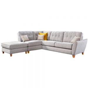 Kelsey Small Corner Chaise with Right Arm + Chaise Footstool