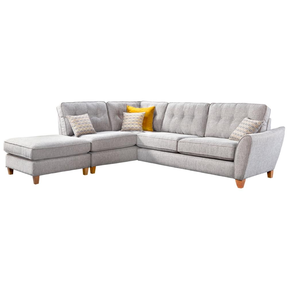 Kelsey Large Corner Chaise Right Arm + Chaise Footstool