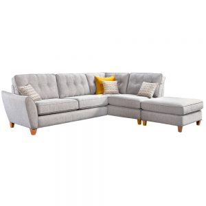 Kelsey Large Corner Chaise Left Arm + Chaise Footstool