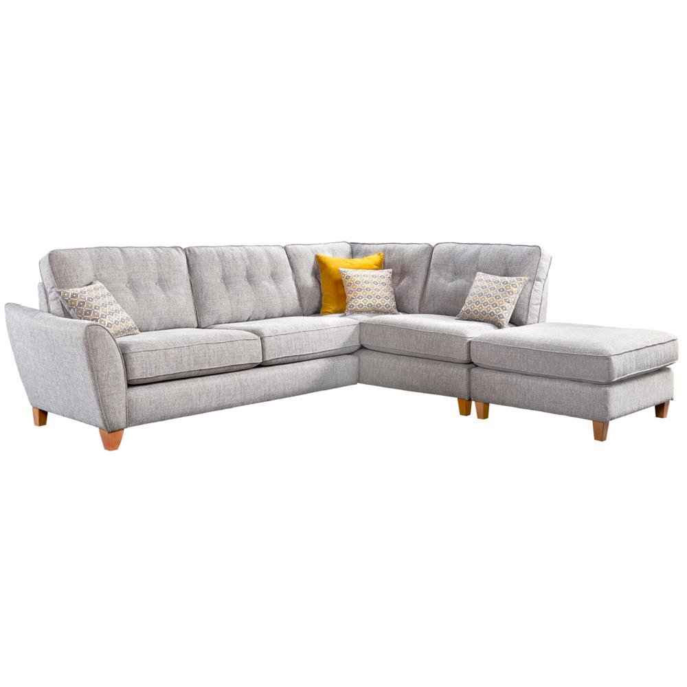 Kelsey Large Corner Chaise Left Arm + Chaise Footstool • Glasswells