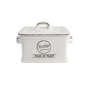Pride Of Place Butter Dish White