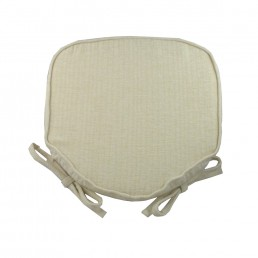 Savannah Piped Seat Pad Cream