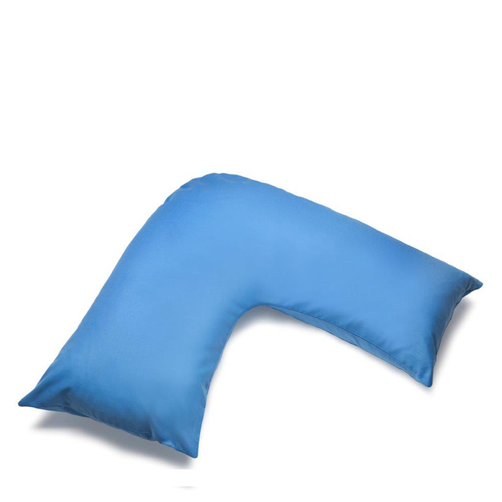 V Shape Orthopaedic Pillowcase Sky Blue