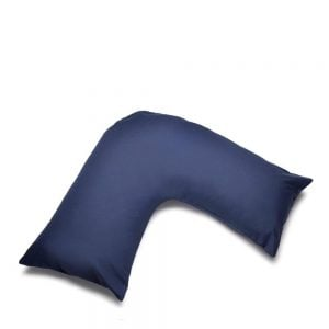 V Shape Orthopaedic Pillowcase Navy