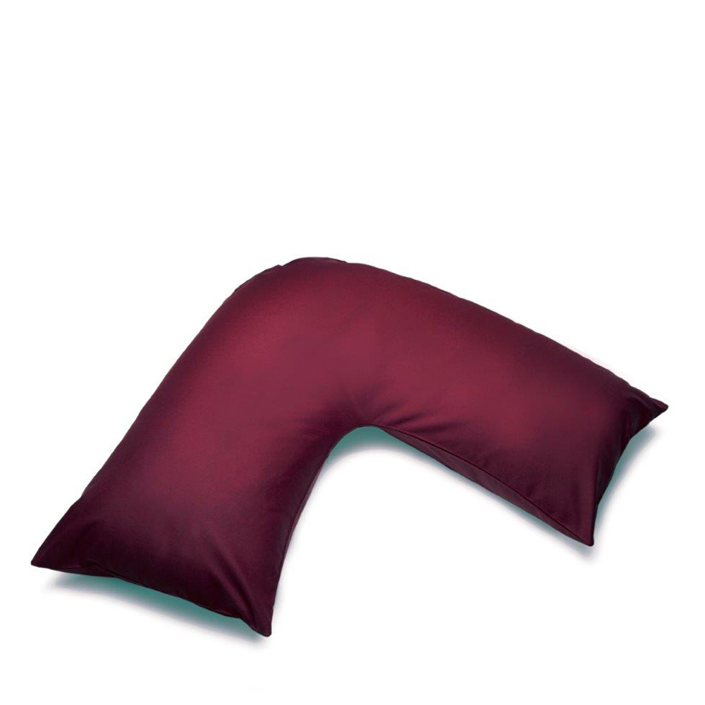 V Shape Orthopaedic Pillowcase Aubergine