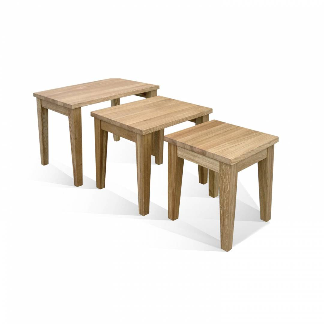 Wykeham Oiled Nest of Three Tables