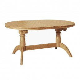 Wykeham Oiled Double Pedestal Extended Table Inc 2 Leaves
