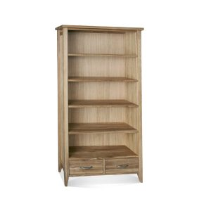 Wykeham Lacquered Tall Bookcase 2 Drawers