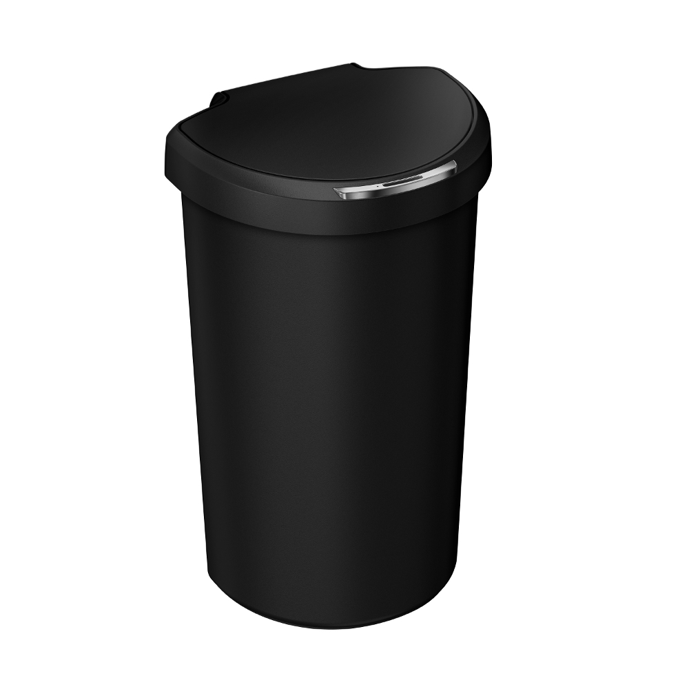 Simple Human 40L Semi-Round Sensor Bin Black