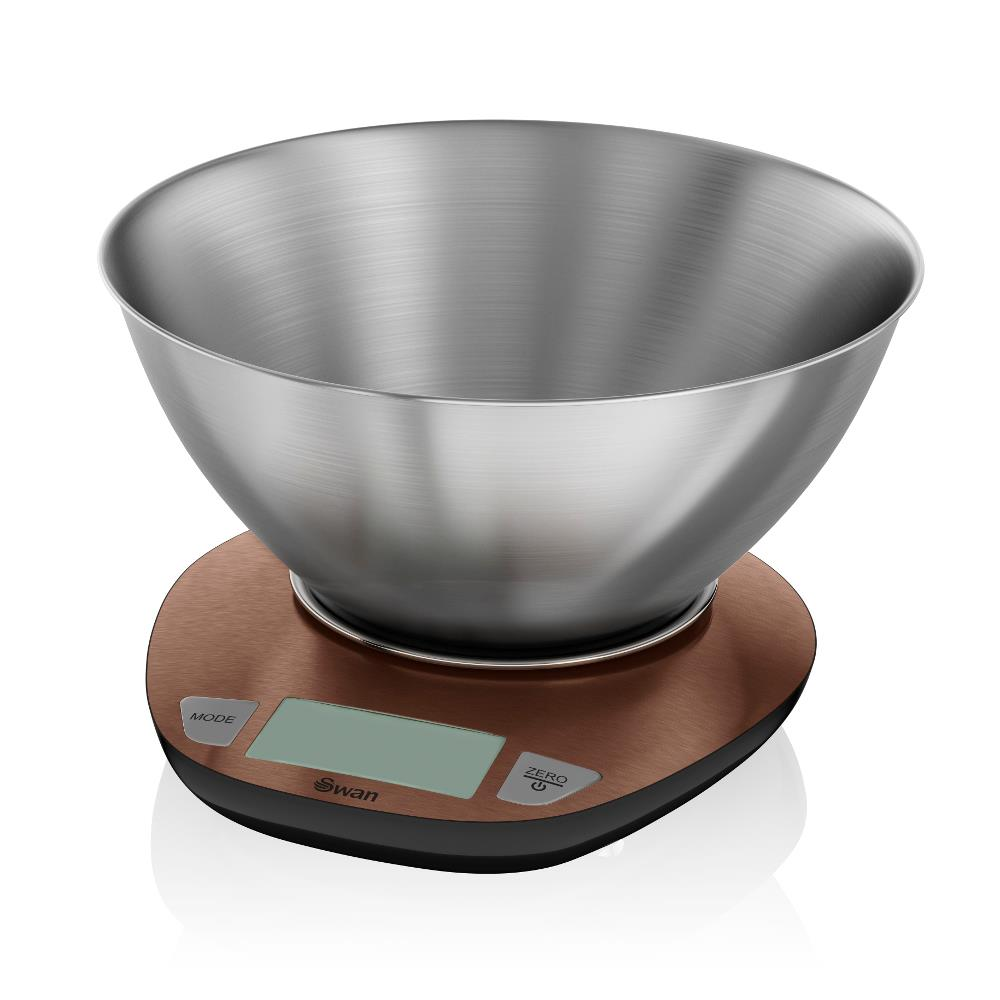 Swan Town House Electronic Scales In Copper