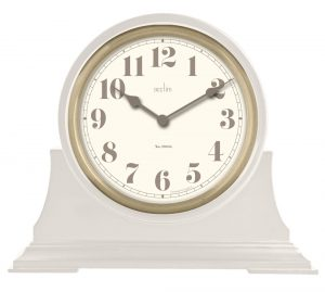 Mirehouse Table Clock In Light Grey