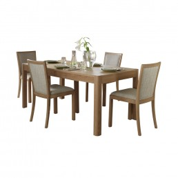 Dovedale 120cm Extending Dining Table & 4 Upholstered Back Dining Chairs