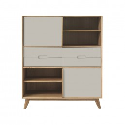 Rondo Highboard with Grey Front