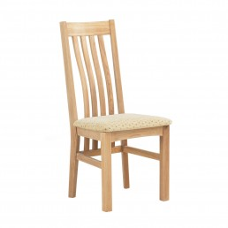 Naples Satin Slatted Dining Chair