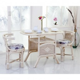 Daro Worcester Cane Oval Breakfast Set in Light Natural Wash