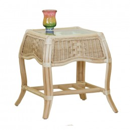 Daro Worcester Cane Side Table in Light Natural Wash
