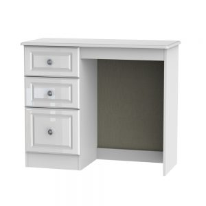 Portland White Gloss Single Pedestal Dressing Table