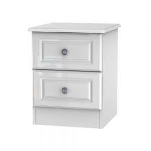 Portland White Gloss 2 Drawer Locker
