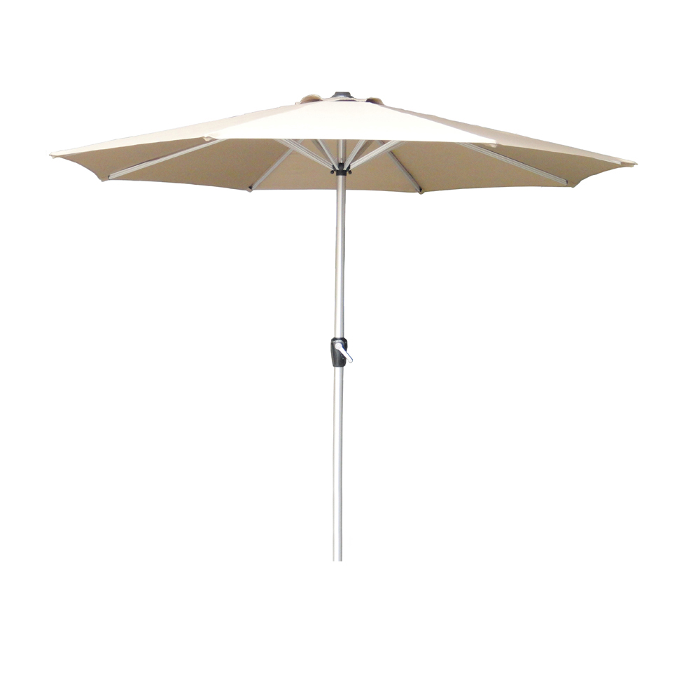 2.5m Round Parasol With Crank Handle – Sand