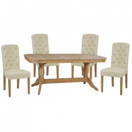 Stag Langham Dining Table & 4 Chairs