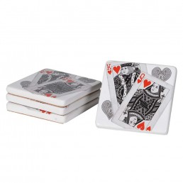 Playing Card Coasters Set of 4