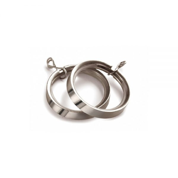 Lined Curtain Rings Satin Silver