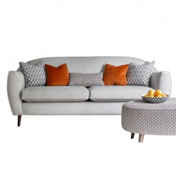 Cheyney Large sofa with wooden legs – in fabric grade V