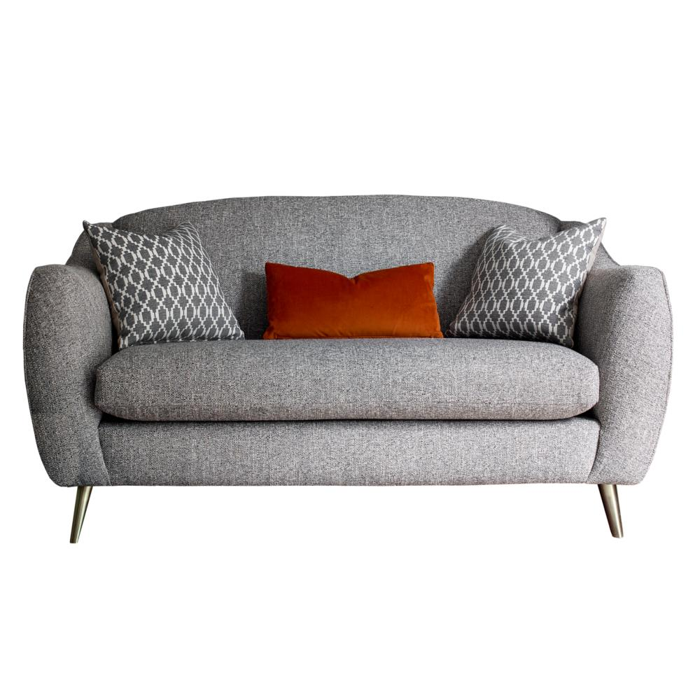 Cheyney Compact Sofa with wooden legs – in fabric grade V
