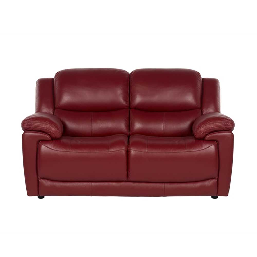 Fontana 2 Seater Sofa in New Club Red Leather