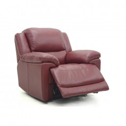 Fontana Electric Recliner Chair in New Club Red Leather