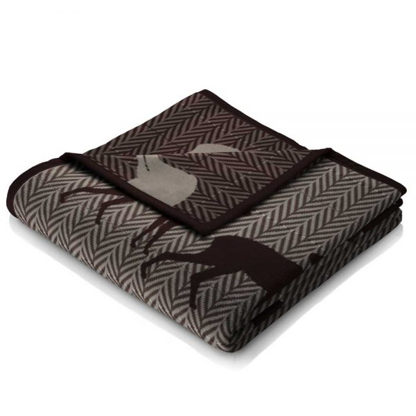 Biederlack Thermosoft Stag Throw Natural