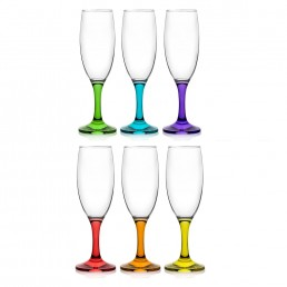 Misket Coral Champagne Flutes 190ml