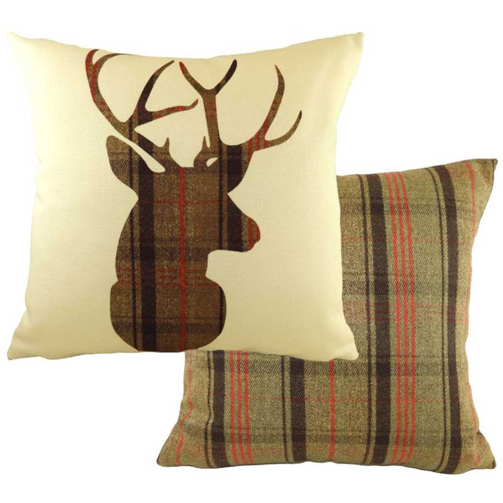 43cm One Mount Stirling Stag Cushion