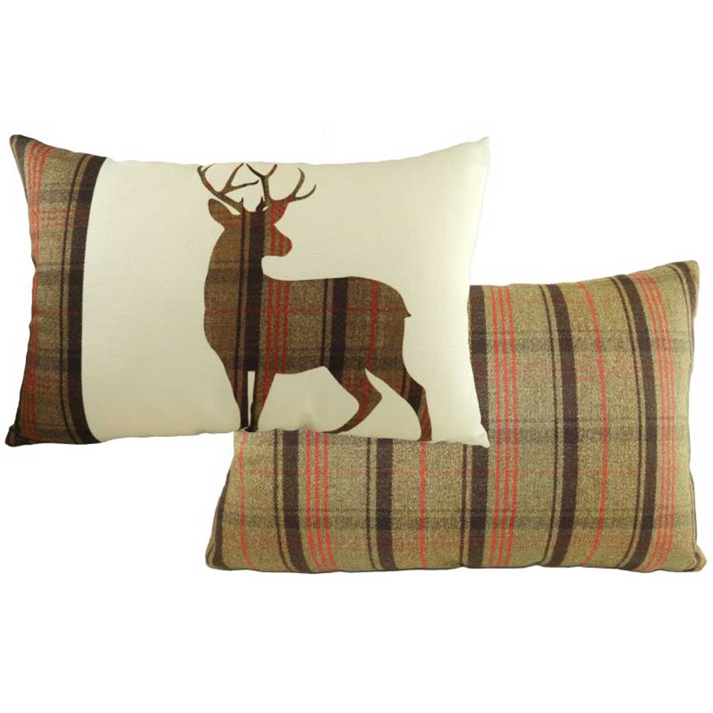 Standing Stirling Stag Hunter Cushion 60cm x 40cm