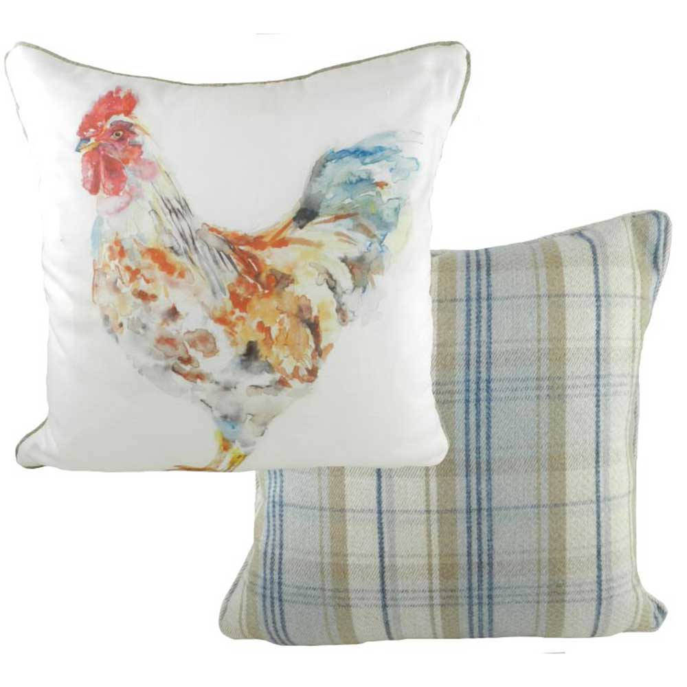 Jennifer Rose Watercolour Rooster Cushion