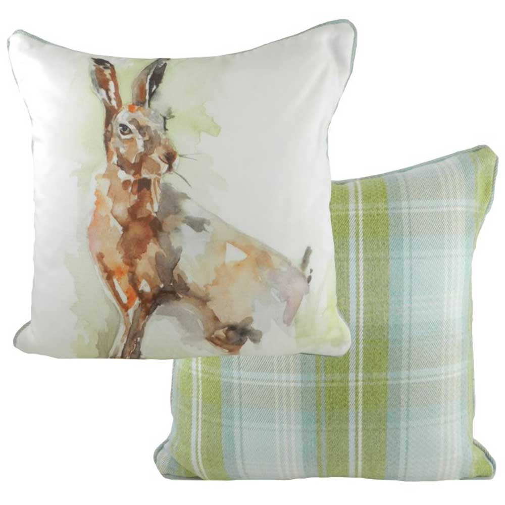 Jennifer Rose Watercolour Lone Hare Cushion