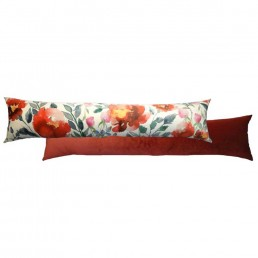 Royal Floral Draught Excluder Burgundy