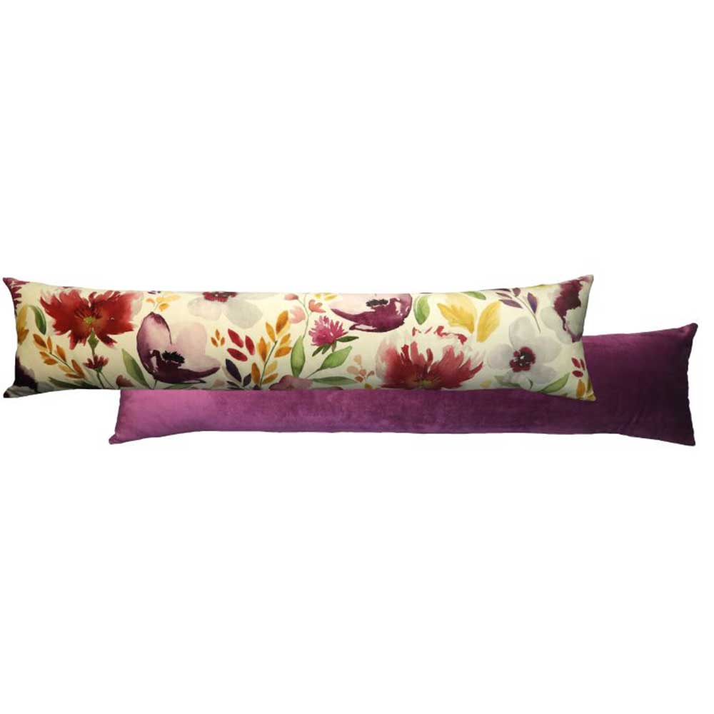 Royal Floral Draught Excluder Amethyst