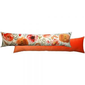 Royal Floral Draught Excluder Pumpkin
