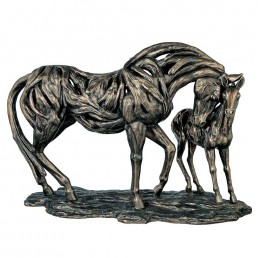 'Guidance' Mare & Foal Bronze Figurine