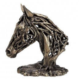 'Endurance' Horse Head Bronze Figurine