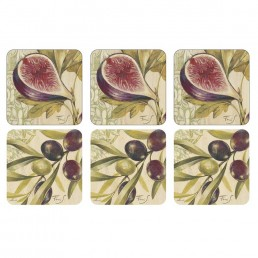 Pimpernel Olives and Figs Coasters Set of 6