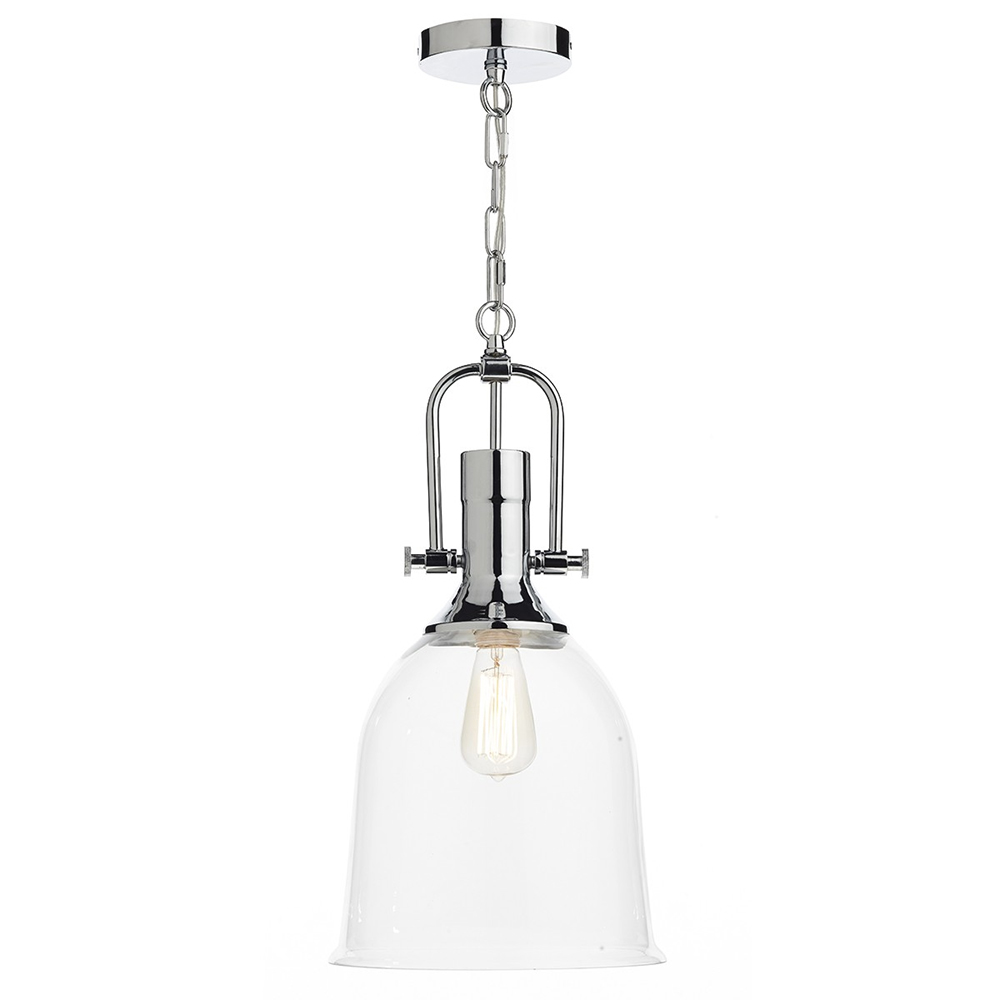 Nolan Ceiling Pendant Polished Chrome/Clear