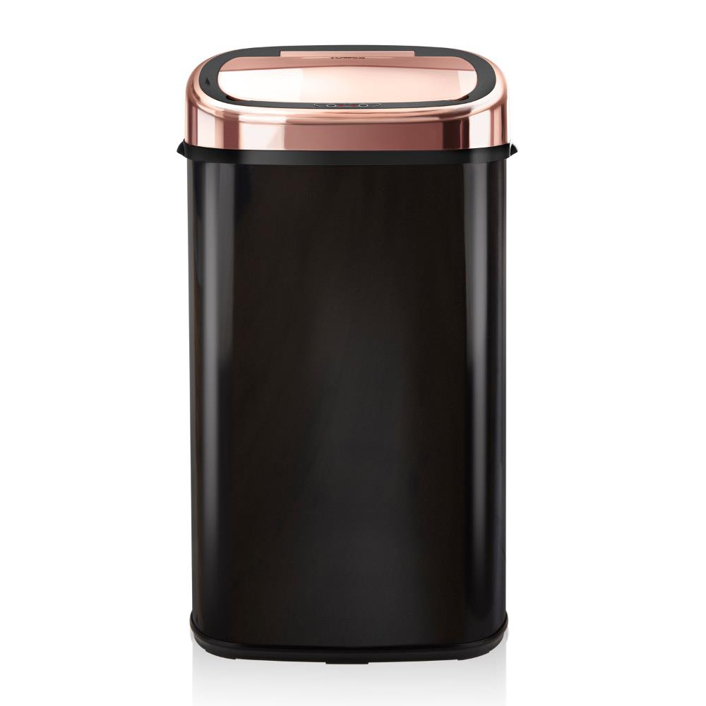 Tower 58L Square Sensor Bin Rose Gold & Black