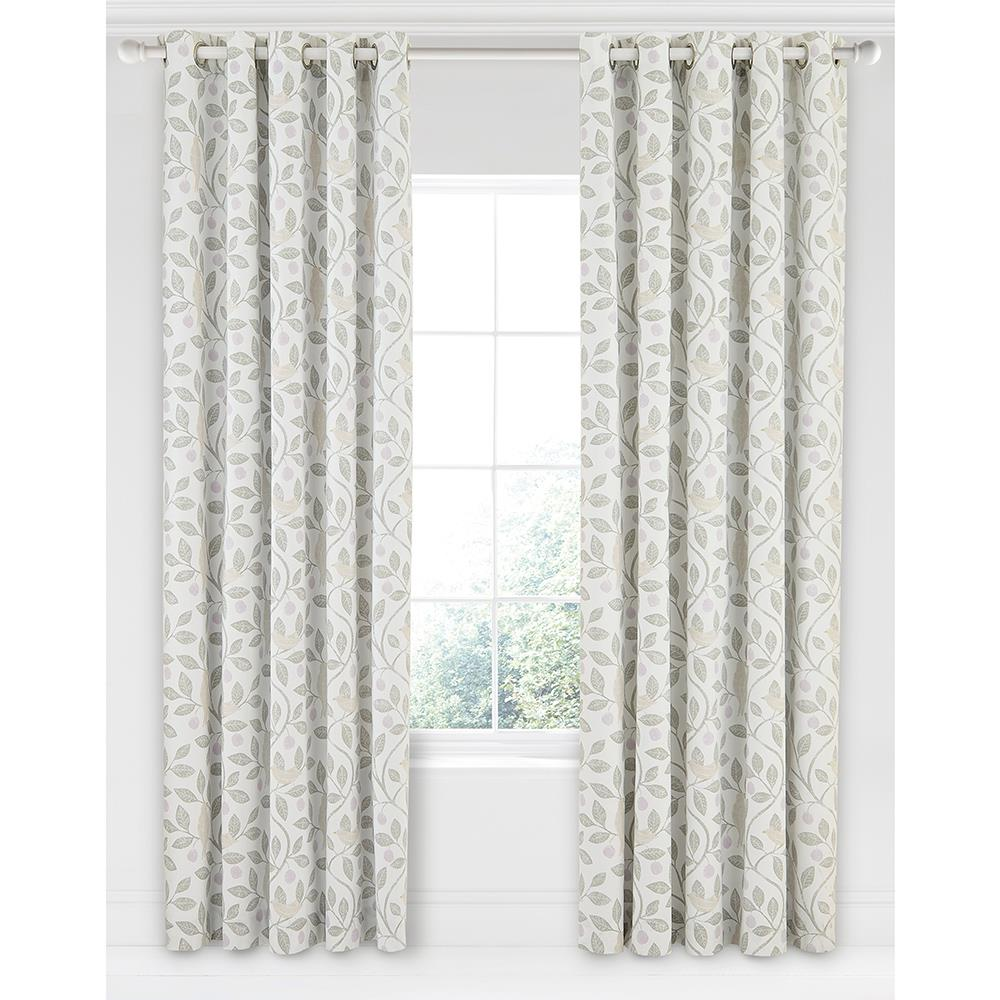 Sanderson Home Damson Tree Curtains 66″x90″ Dove